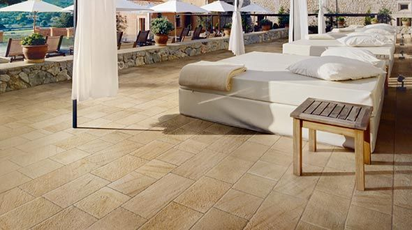 barge gialla ceramica panaria pavimento effetto pietra per esterni - Edil Siani 4