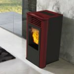 stufa a pellet italiana camini ten plus 10 kw bordeaux
