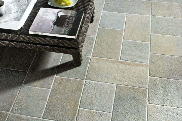 Barge grigia ceramica panaria pavimento per interni ed esterni