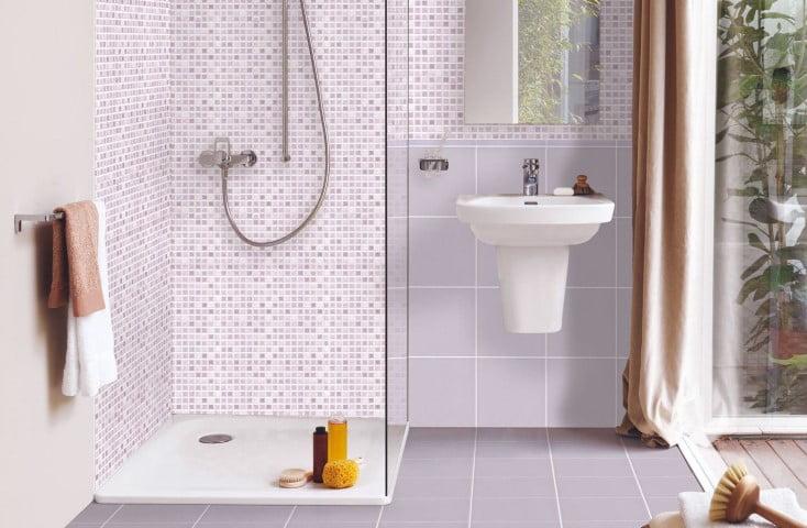 Mosaic therapy lilla glicine idea ceramica prima scelta edil siani - Piastrelle bagno opache ...