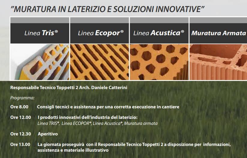 """OPEN DAY - """"Muratura in Laterizio e soluzioni innovative"""""""