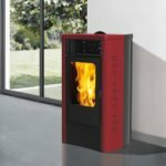 stufa a pellet italiana camini dida plus 12 kw bordeaux