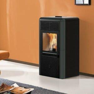 termostufa a pellet italiana camini idropoint 11 3 Kw grigia - edilsiani