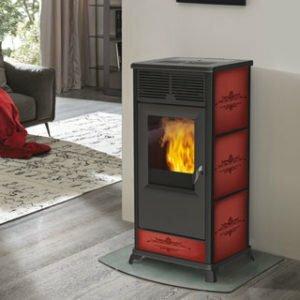 termostufa a pellet italiana camini idropolis 15 Kw bordeaux - edilsiani