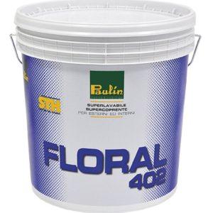 Idropittura all'acqua super lavabile per interni ed esterni Floral 402 bianco Paulin 14 lt - edil siani