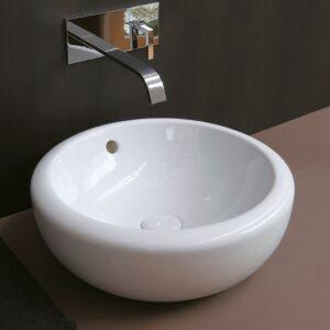 fluid lavabo appoggio 45 ceramica cielo - edil siani
