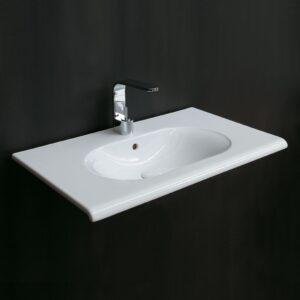 fluid lavabo sospeso 100 ceramica cielo - edil siani