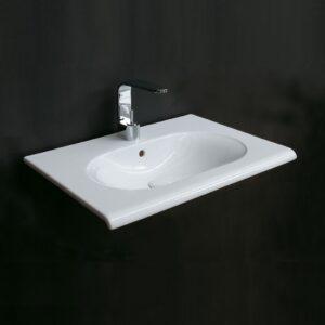 fluid lavabo sospeso 80 ceramica cielo - edil siani