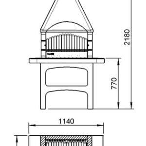barbecue in muratura MCZ korsika - Siani Group